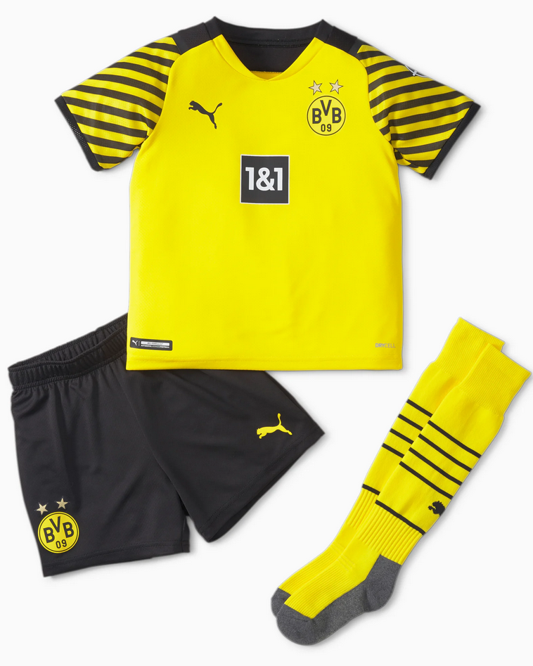 PUMA Kinder BVB Home Youth Football Mini-Kit with Sponsors 759053 01
