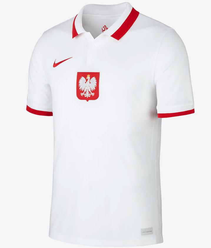 Nike Herren CDO722-100 Polen 2020 Stadium Home Herren-Fußballtrikot